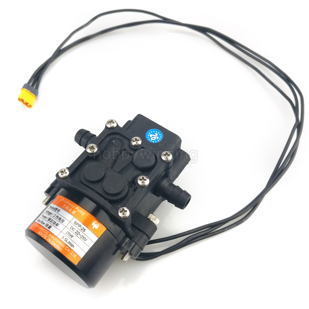 Landwirtschaft drone Mini Bürstenlosen Wasserpumpe Miniatur druck membran pumpe Mit Amass MR30 stecker 22 25 V 3.5L/ min Licht gewicht-in Teile & Zubehör aus Spielzeug und Hobbys bei  Gruppe 1