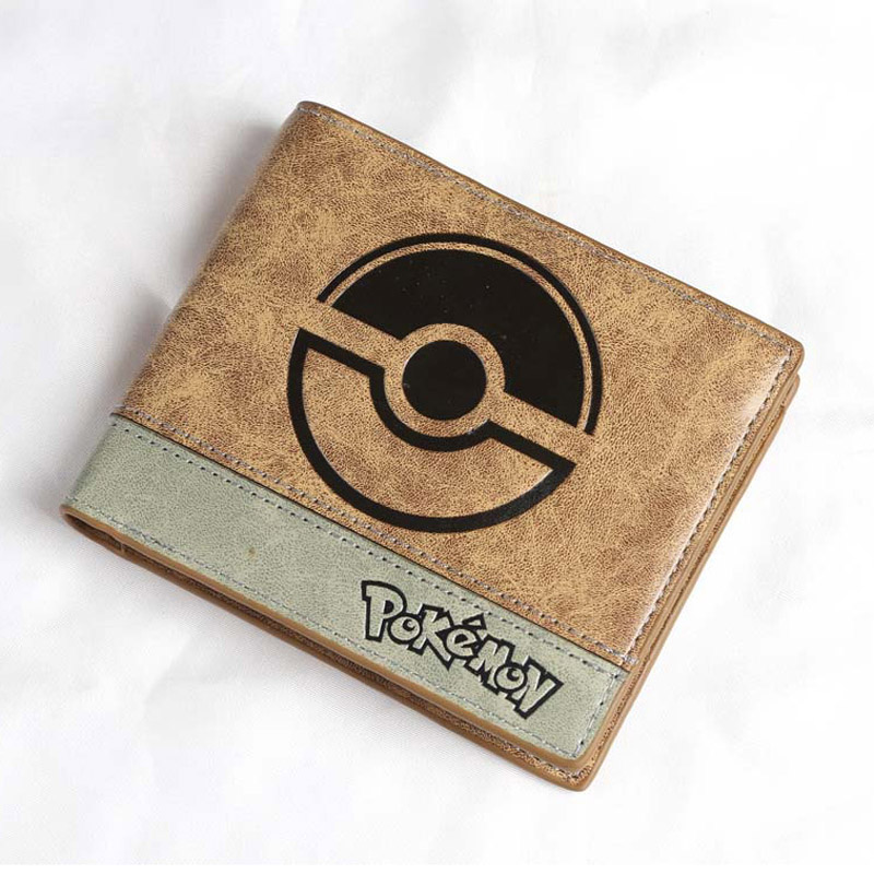 Anime Short Wallet/Pikachu Pocket Monster Poke Ball High Quality PU Purse with Good Texture moana maui high quality pu short wallet purse with button