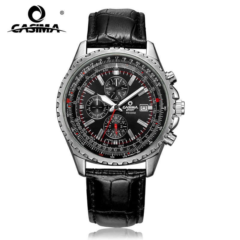 Часы люксовый бренд Мужчины модные классические спортивные мужские кварцевые наручные часы Relogio masculino водонепроницаемый 100 м CASIMA #8882