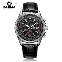 CASIMA Luxury Brand Watches Men Fashion Classic Sport Mens Quartz Wrist Watch Leather Band Waterproof 100m #8882