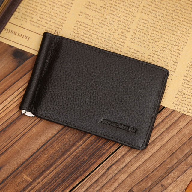 db547b6d17ae Hot Selling!2017 Ultra Slim Men s Leather Bifold Money Clip Wallet ID  Credit Wholesale