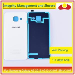Image 3 - 50 шт./лот для Samsung Galaxy A3 2016 A310 A310F SM A310F A310H корпус батарейного отсека задняя крышка корпус