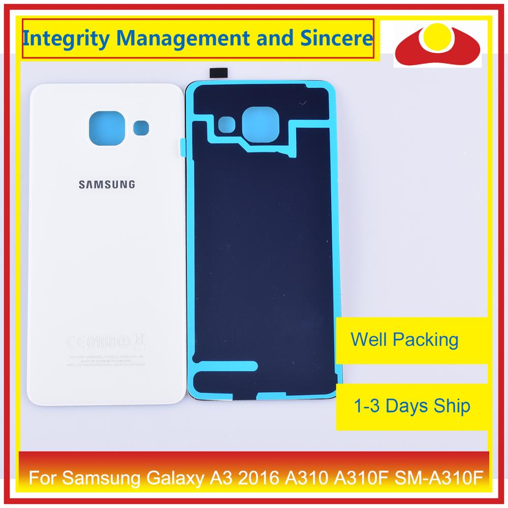 Image 3 - 50Pcs/lot For Samsung Galaxy A3 2016 A310 A310F SM A310F A310H Housing Battery Door Rear Back Cover Case Chassis Shell-in Mobile Phone Housings & Frames from Cellphones & Telecommunications