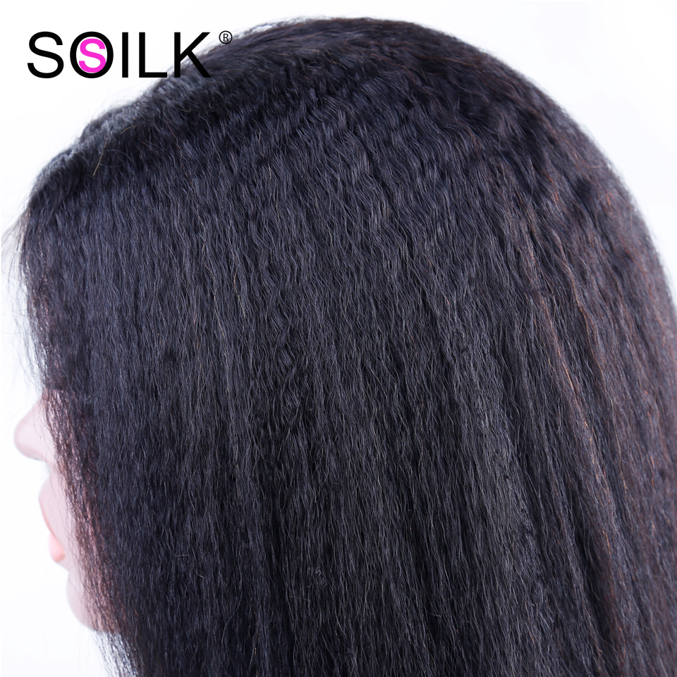 So Silk Lace Front Human Hair Wigs 4x4 Closure Lace Wigs Remy Malaysian Hair Kinky Straight Wig Lace Front Wig with Baby Hair