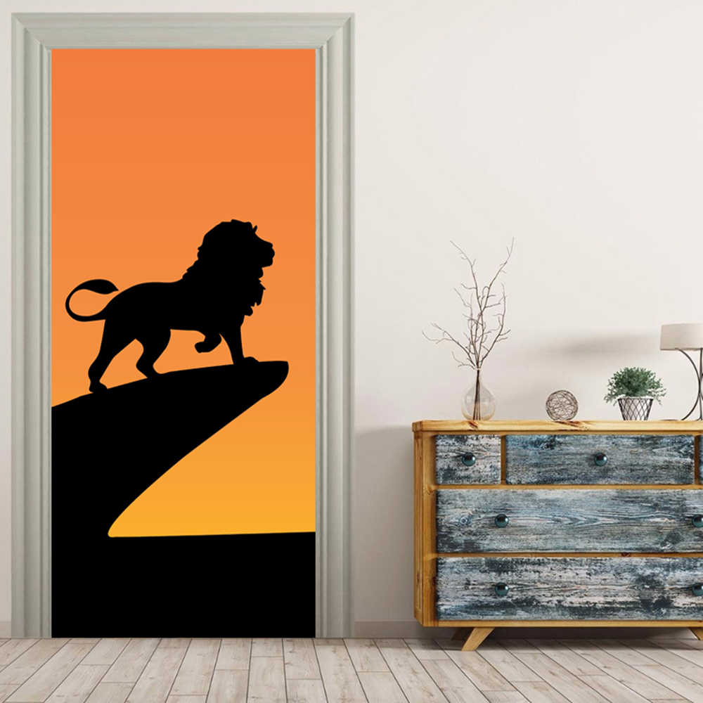 Lion King Shadow 3D Mural Stickers Door Sticker Wallpaper Decals Home Decoration Sep027119.jpg q50