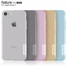 NILLKIN для Apple iPhone 7 Чехол природа ясно Мягкий Силиконовый ТПУ Protector чехол для iPhone 7 Plus прозрачный упаковки