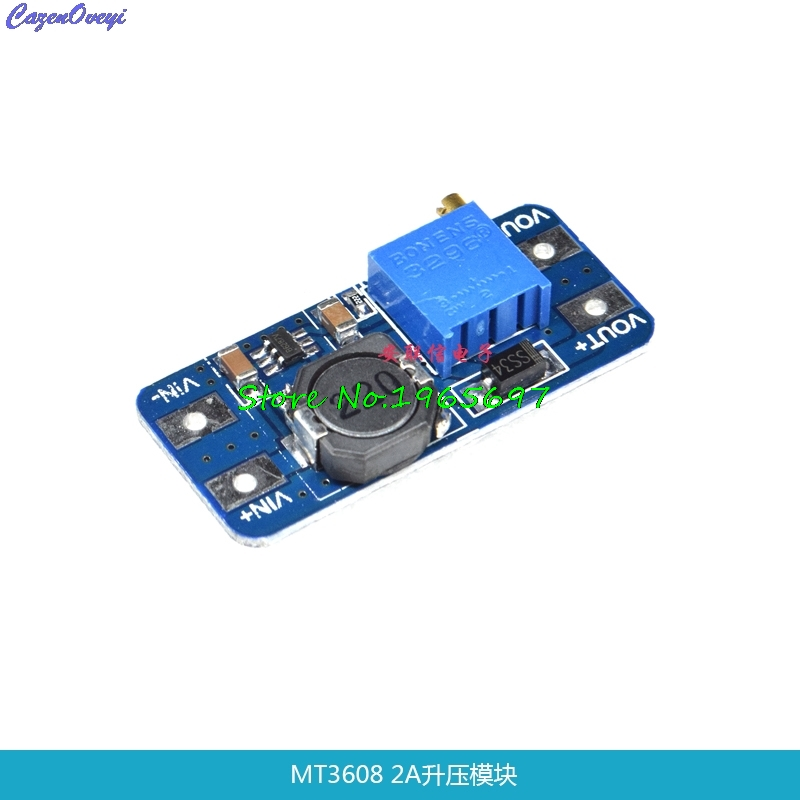 MT3608 DC-DC Adjustable Boost Module 2A Boost Plate 2A Step Up Module with USB 2V - 24V to 5V 9V <font><b>12V</b></font> 28V LM2577 In Stock image