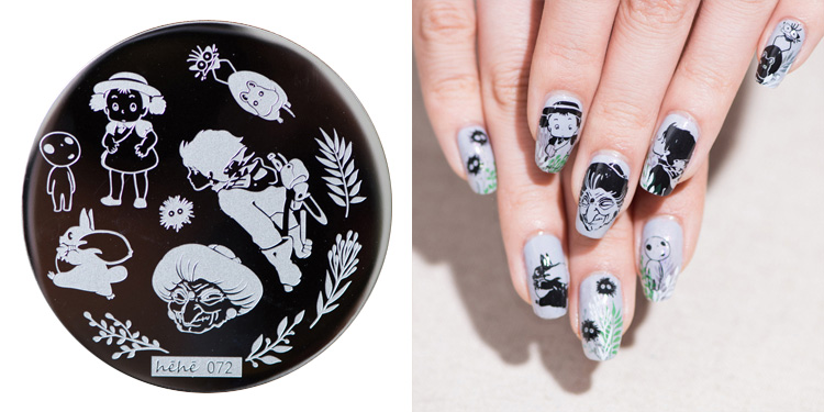 1pc Nail Stamping Plate Image Transfer Templates Stamp Tool Hehe13--one Of The Japanese Manga Series Nails Art & Tools