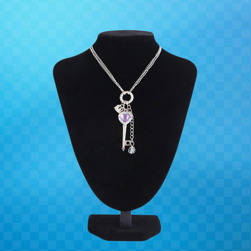 25*18cm Velvet Jewelry Necklace Pendant Neck Model Props Display Stand Holder