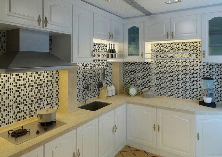 Grieta del hielo de cristal azulejos para Backsplash de la cocina de ...