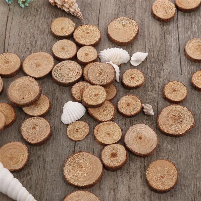 100 шт. 1,5-3 см деревянные срезы диски для поделок своими руками Свадебные срезы дерево цвет DIY живопись дерево ремесло A3
