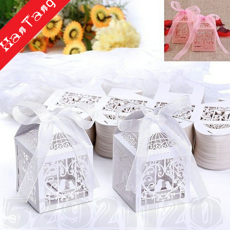 50PCS Candy Box Creative Suger Boxes Gift Boxes for Birthday Wedding Baby Shower