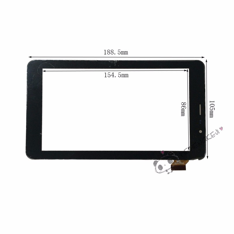 New 7 inch touch screen Digitizer For TEXET TM-7058 X-pad STYLE 7.1 3G tablet PC free shipping new touch screen digitizer 7 texet tm 7096 x pad navi 7 3 3g tablet touch panel glass sensor replacement free shipping