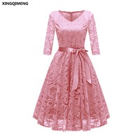 In-Stock-Pink-Cocktail-Dresses-Full-Lace-Three-Quarter-Sleeve-Elegant-Short-Homecoming-Dress-Chic-Formal.jpg_640x640