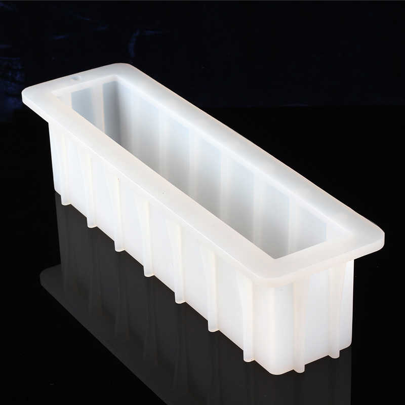 Nicole Loaf Soap Silicone Mold White Rectangular Handmade Swirl Soap Making Tool Mould