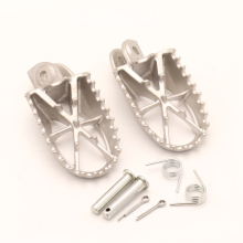 Stainless Steel Foot Pegs For CRF50 SSR SDG Pitster Pro Pit Dirt Bike Motocross