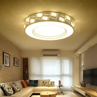 New Modern Round Square Living Room Ceiling Lamps Crystal Light Warm Atmosphere Led Round Bedroom Ceiling