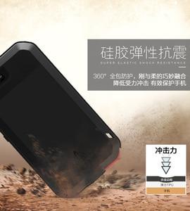 Image 4 - Dla Huawei P20 Pro Lite przypadku miłość MEI potężny odporny na wstrząsy aluminium Metal szkło gorilla pokrywy skrzynka dla Huawei P10 Plus P9 Plus