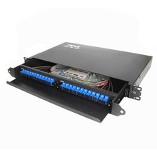 Rack Mount fiber termination box patch panel optical distribution frame ODF for SC 24 core pigtail