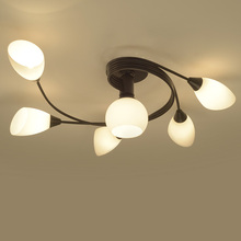 glass lamp LED Modern Chandelier Lights For Living Room  American country simple semi-ceiling ceiling living room