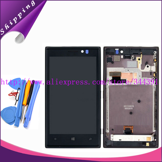 N925 LCD Display Touch Screen Digitizer Assembly With Frame For Nokia Lumia 925 N925 LCD Screen+tools Tracking