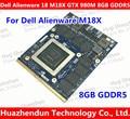 Top for Dell Alienware 18 M18X R2 R3 R4 18 Inch Laptop nVidia GeForce GTX 980M Sli GPU 8GB GDDR5 Graphics Video Card N16E-GX-A1