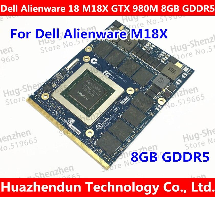 Top pour Dell Alienware 18 M18X R2 R3 R4 18 pouce Ordinateur Portable nVidia GeForce GTX 980 m Sli GPU 8 gb GDDR5 Carte Graphique Graphique N16E-GX-A1
