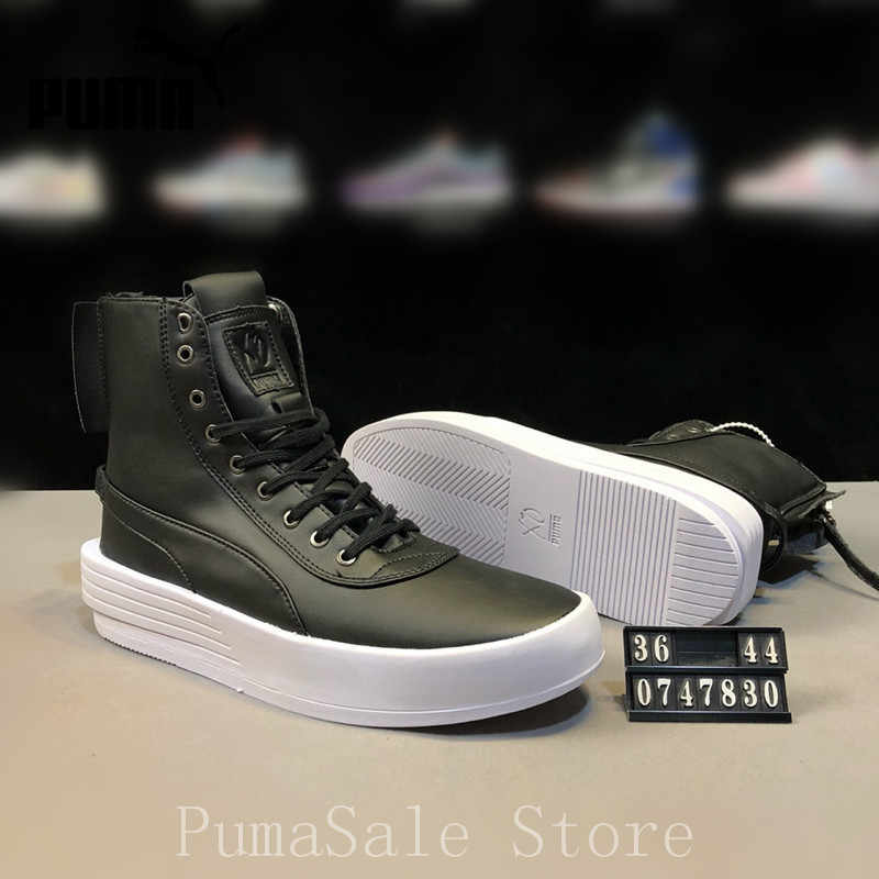 ... Puma XO Parallel The Weeknd Mens Sneaker 365039 03 High Top Badminton  Shoes Lace Up Leather ... 49f6114784