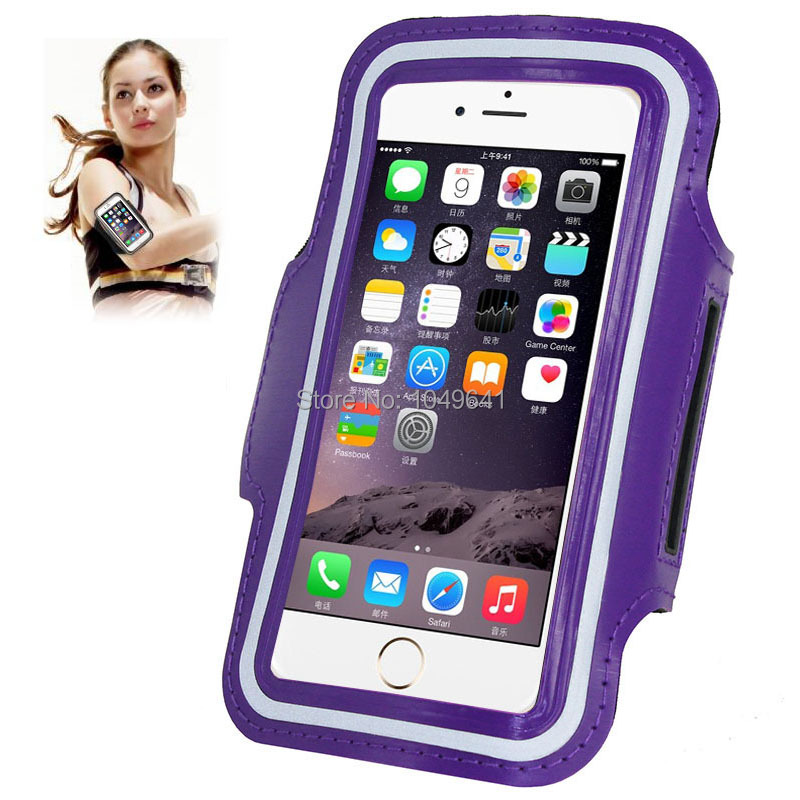 KIP6-1322P_1_Sport Armband Case with Earphone Hole & Key Pocket for iPhone 6 & 6S  HUAWEI Y3 II  ZTE Blade GF3  and Less than 4.7 inch Mobile Phone