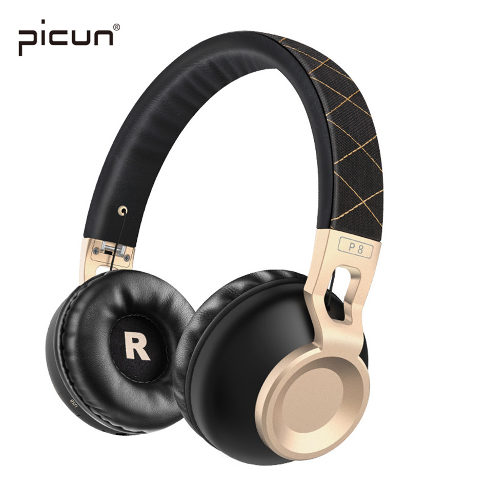 Picun Wireless Headphone Bluetooth Earphone Noise Canceling Headset Stereo Casque Audio With MIC Kulakl K Sluchatka ForPhone PC new csr8635 blutooth hands free casque bests bluetooth 4 1 wireless earpiece skype noise canceling bluetooth headset with mic