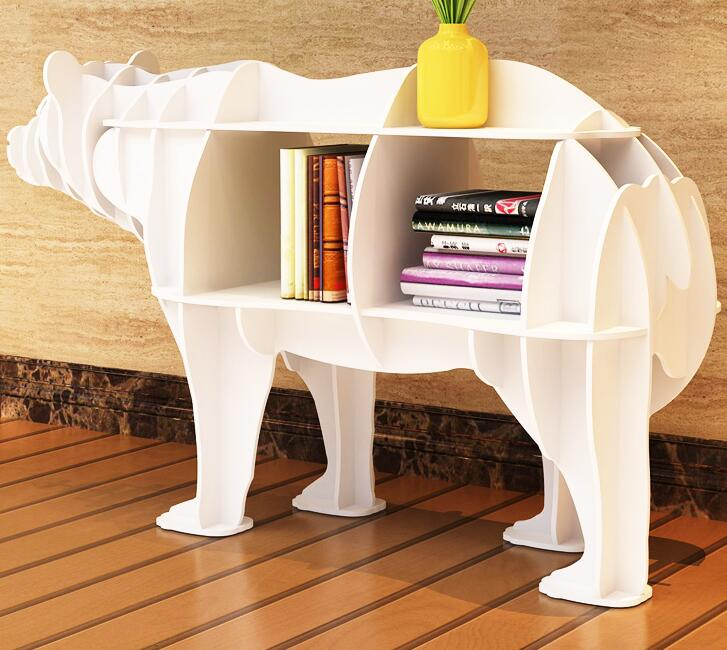 The polar bear shelf animal modelling porch desk