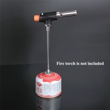 Gas Lantern Extension Tube Camping Lamp Rod Blow Torch Extender Pole Cooking Stove Converter GM601