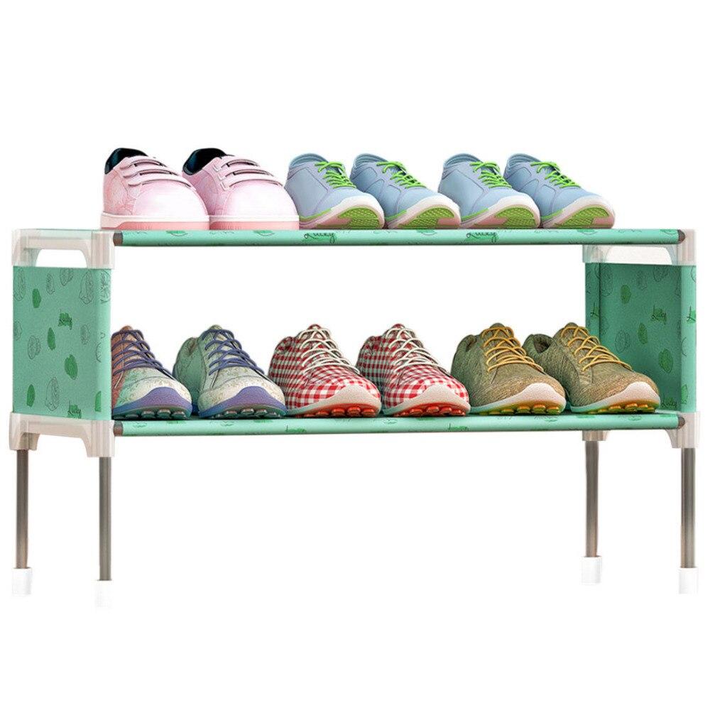 2 Tiers Schuhschrank Vlies Schuhe Rack Schuhe Organizer Rack ...