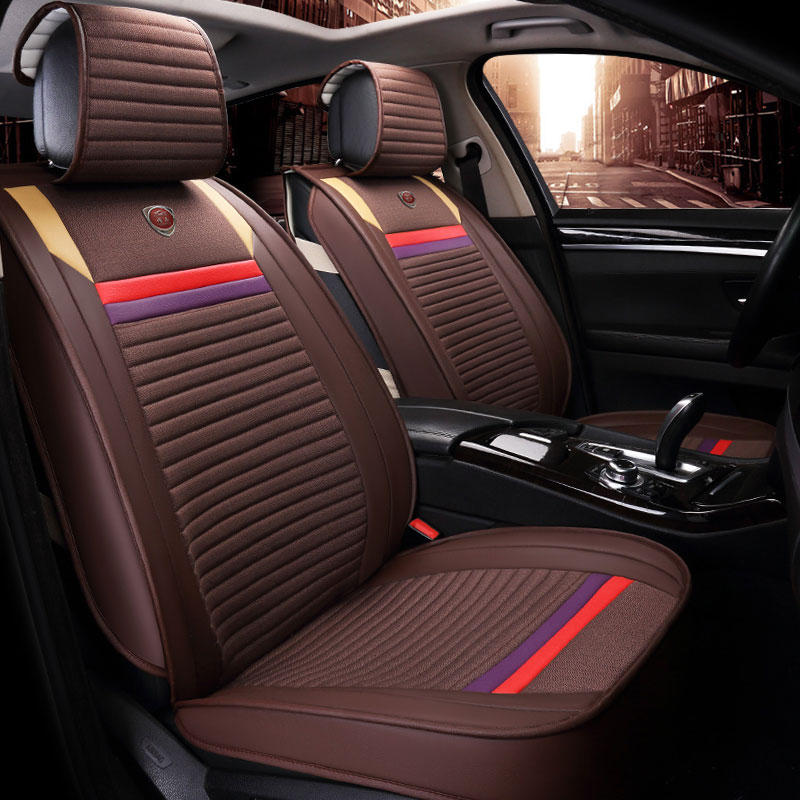 3D Fully Enclosed Fibrous Car Cushion,For Cadillac ATS CTS XTS SRX SLS Escalade Fashion Stitching,Car Seat Cover