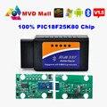 Melhor Chip 25K80 ELM 327 V 1.5 Adaptador BT No Android Torque Elm327 Interface Bluetooth V1.5 OBD2/OBD II Carro De Diagnóstico Scanner