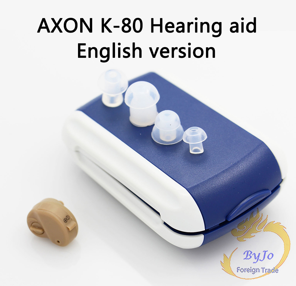 AXON K-80 Mini Clear Hearing Aids Aid Personal Sound Amplifier In the Ear Tone Volume Adjustable hearing aid medico sound amplifier clear hear aids personal ear appliance products in cl paypal accepted s 303