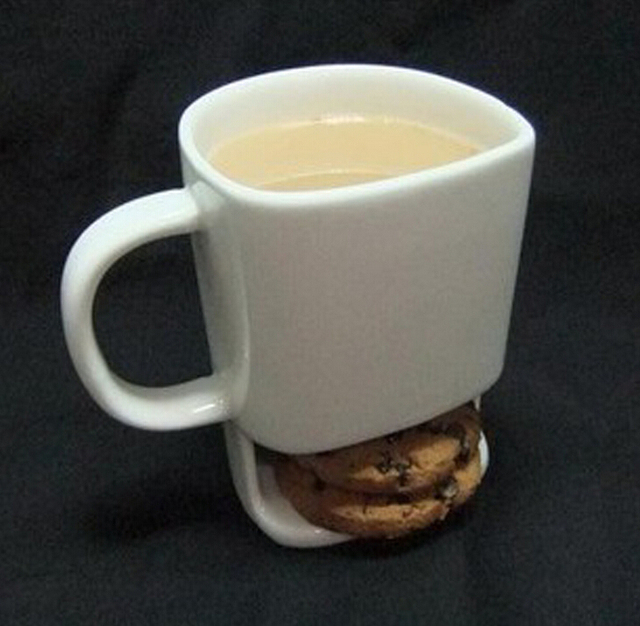 Dunk Mug cup Ceramic Cookies Mug Cookie Dunk Mug with Biscuit Pocket ...