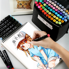 Markers pen brush set anime student design 30/40/60 color double head oily POP full of 168 art supplies