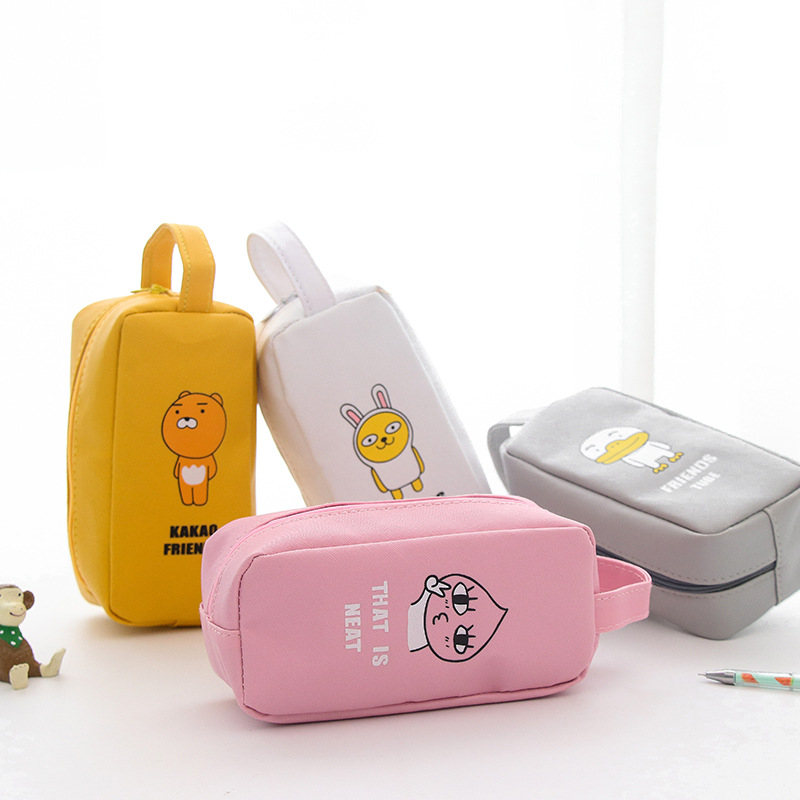 big large animal duck pencil bag & case pu leather pink yellow grey white women girl student kid storage bag school stationery women s maxi pencil skirt in pu leather