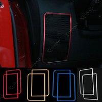Red Blue Silver Gold Dashboard Below Speaker Ring Frame Trim Sticker Car Styling For Jeep Wrangler