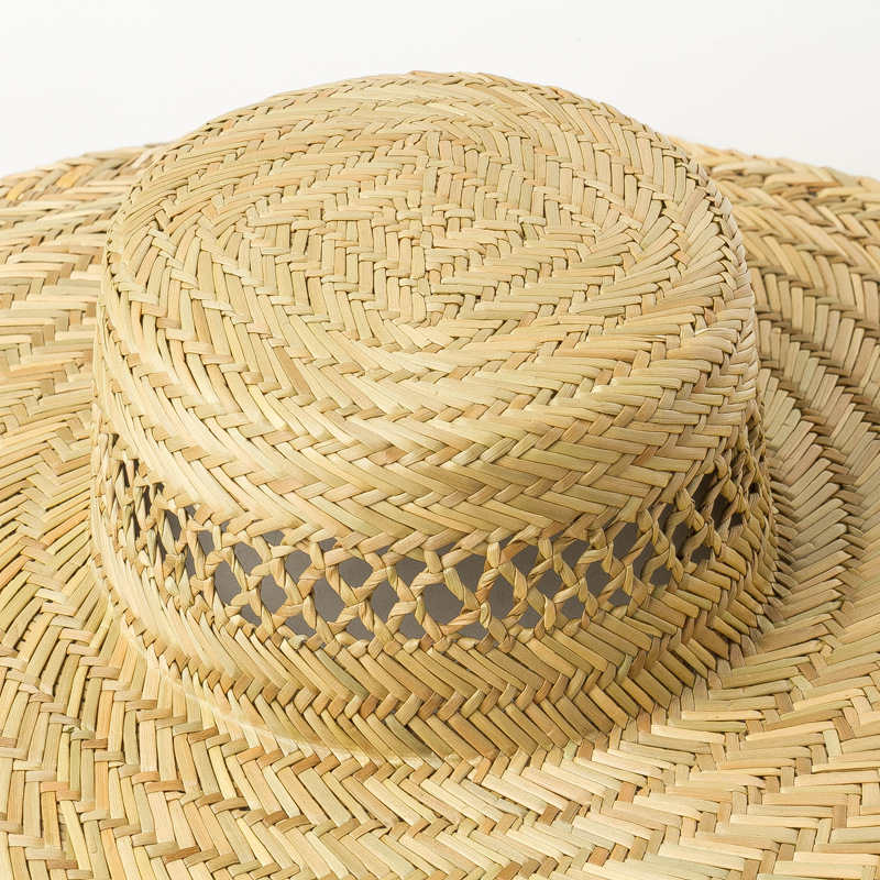 USPOP 2019 New natural straw hats for women hand woven hollow out sun hats wide brim flat top beach hats in Women 39 s Sun Hats from Apparel Accessories