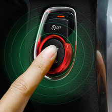 Start Button Cover Trim Push For BMW 1 2 3 Red Auto Car Vehicle Keyless(China)
