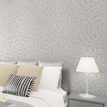 Contemporary contracted thickening non-woven pure color wallpaper bedroom living