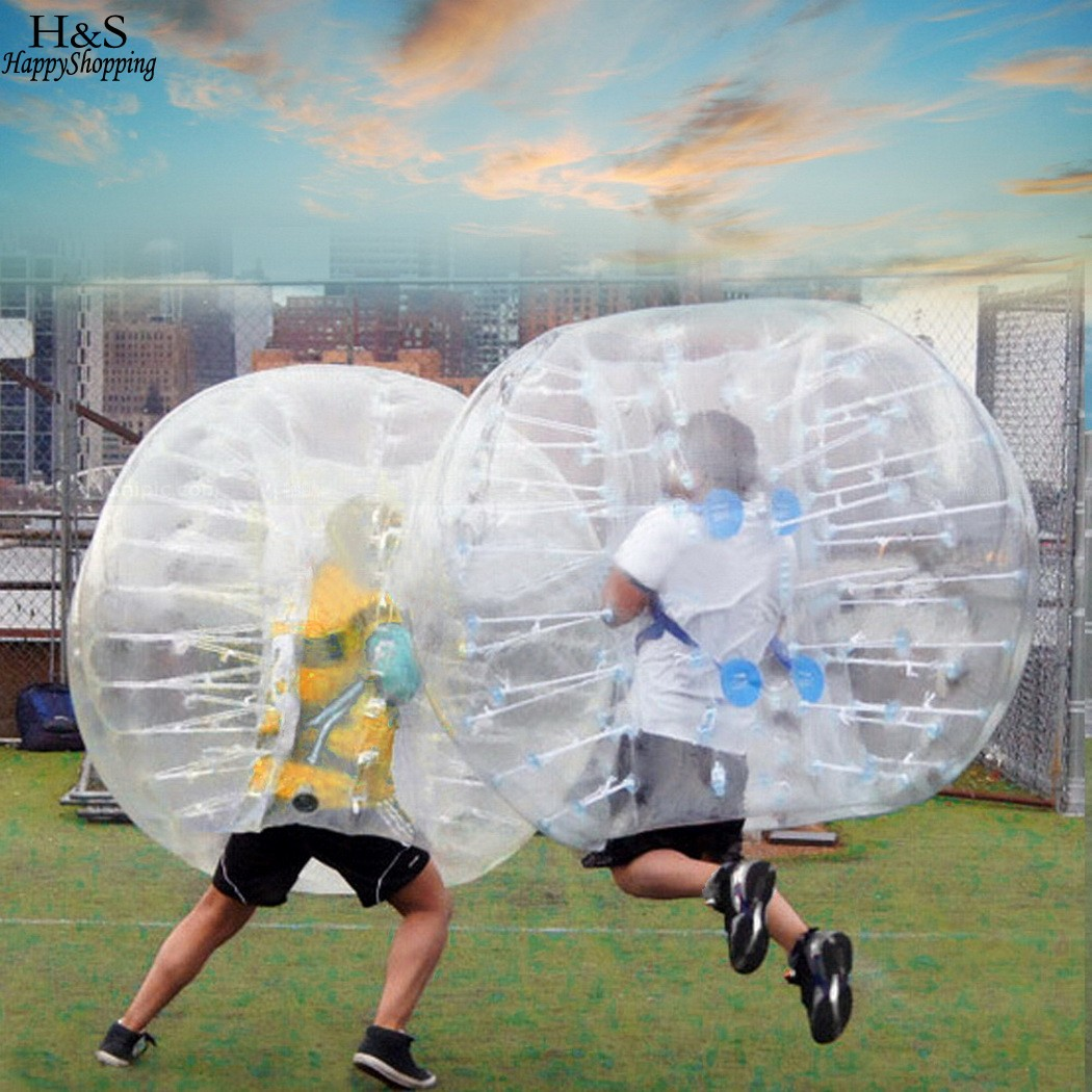 Outdoor PVC Transparent 1.5M Diameter Inflatable Bumper ball Human Knocker Ball Bubble Soccer cheapest crazy best material tpu inflatable body bumper ball bubble soccer ball bubble ball for football
