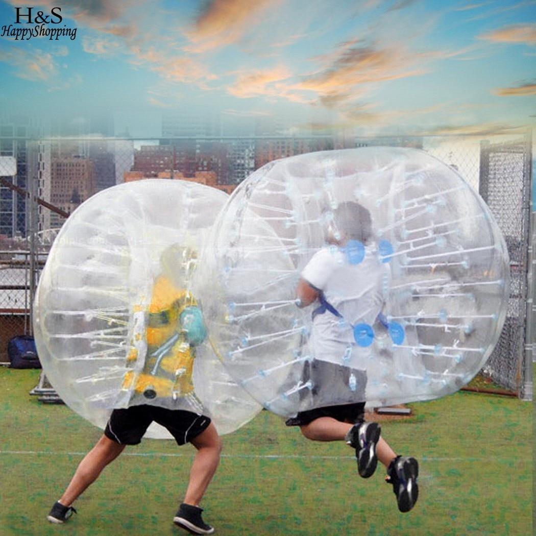 Outdoor PVC Transparent 1.5M Diameter Inflatable Bumper ball Human Knocker Ball Bubble Soccer free shipping 3m pvc inflatable playground zorb ball for kids human hamster ball grass zorbing ball durable zorb ball