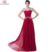 Elegant Design Floor Length Long Evening Dress Sleeveless Red Celebrity Dresses Autumn Winter Special Occasion Gown