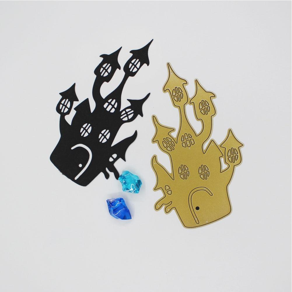 Halloween haunted House DIY Metal Cutting Dies Stencil Embossing Card Craft Metal Dies Cutting For Scrapbooking