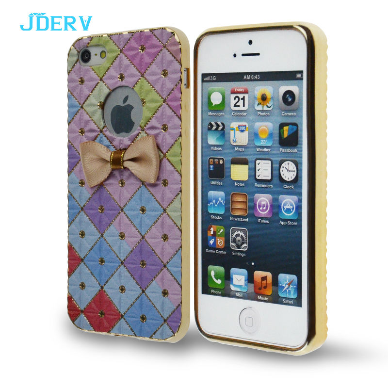 Luxury Silicone Case For Iphone 5s Cover Cute Girl Color Glitter