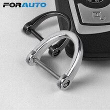 Толстый автомобильный брелок для ключей, металлические кольца для ключей, аксессуары для интерьера, классическое кольцо для ключей в форме D подковы, держатель для ключей