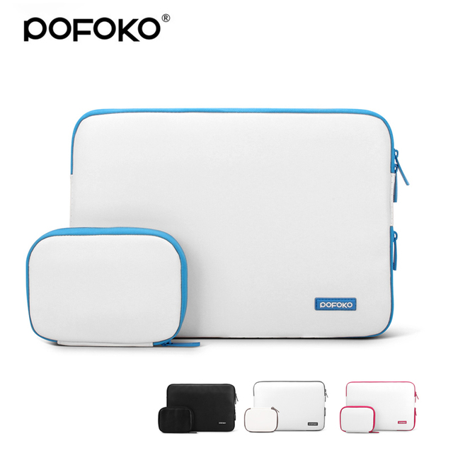 POFOKO waterproof PU Laptop Sleeve Case carry case for 11 13 15 inch Macbook Air cover for Pro Retina with extra hand bag